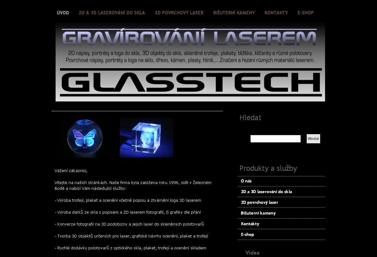 Glasstech - 2D a 3D laserování